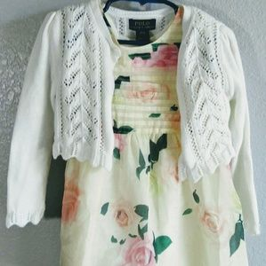 Forever Baby Floral Dress, Ralph L. Cardigan, Bow